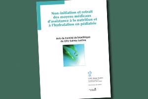 Non-initiation et retrait des moyens médicaux d'assistance à la nutrition et à l'hydratation en pédiatrie