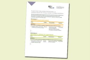 Plan d'action pour favoriser la supervision des stages dans l'établissement