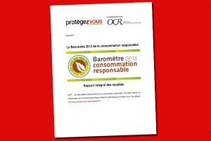 Baromètre 2012 de la consommation responsable