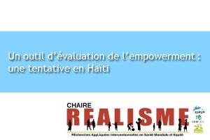 Un outil d'évaluation de l'empowerment: une tentative en Haïti.
