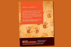 Cahier REALISME n°4: La difficile mise en œuvre d'une approche communautaire de sélection des indigents en zone lotie de la ville de Ouagadougou au Burkina Faso