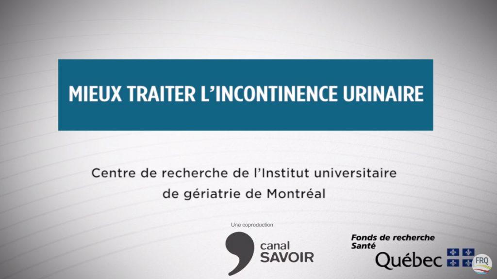 Présentation vidéo sur le traitement de l'incontinence urinaire
