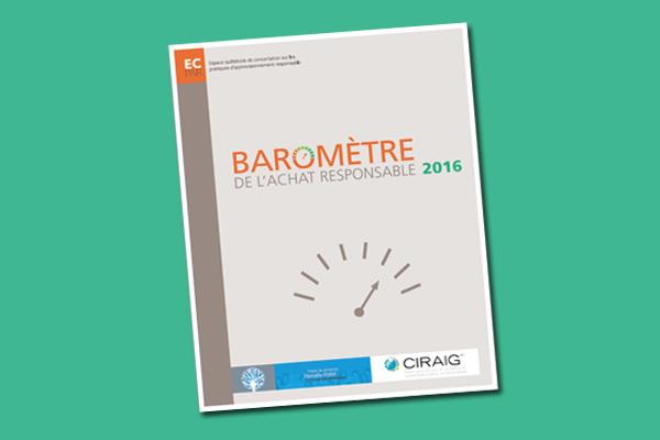 Baromètre de l'achat responsable 2016