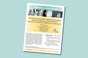Efficacité d'un programme d'intervention de groupe destiné aux agresseurs sexuels d'enfants : impact sur les distorsions cognitives et la personnalité