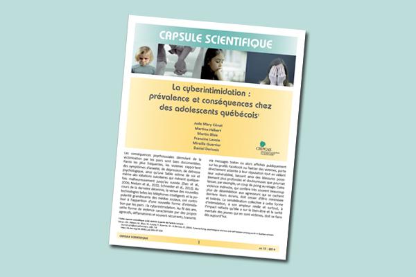 La cyberintimidation : prévalence et conséquences chez les adolescents québécois