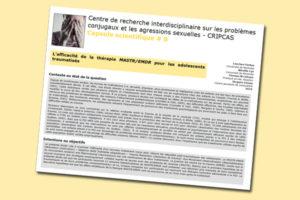 L'efficacité de la thérapie MASTR/EMDR pour les adolescents traumatisés