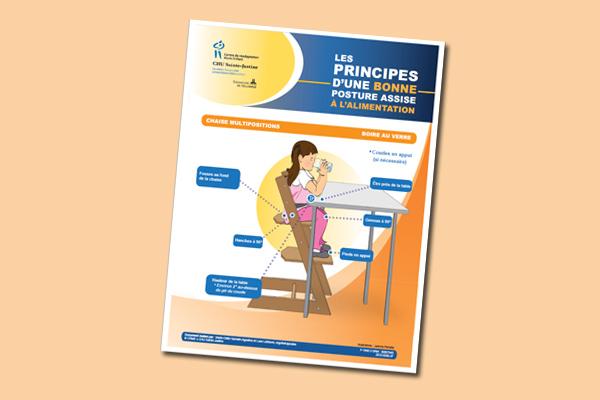 Les principes d'une bonne posture assise à l'alimentation : Boire au verre