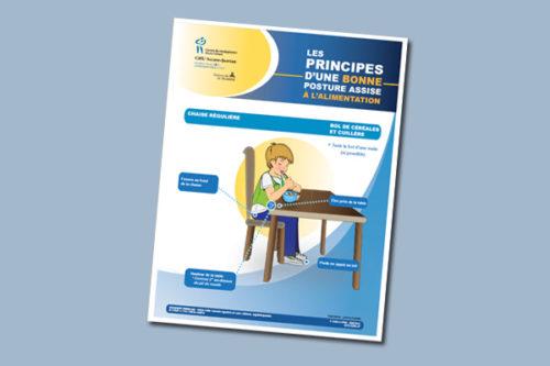 Les principes d'une bonne posture assise à l'alimentation : Chaise régulière