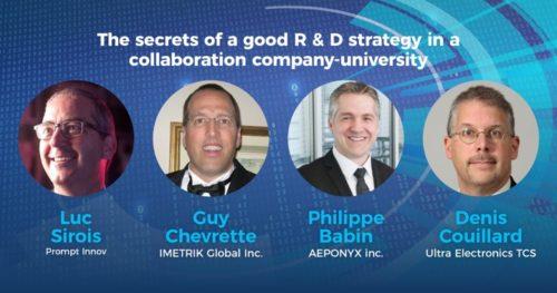 Les secrets d'une bonne stratégie de R-D collaborative entreprises-Université (expérience des entrepreneurs)