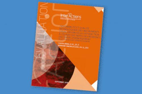 Disponibilité et qualité métrologique des instruments d'évaluation de la satisfaction à l'égard des repas des résidents en centre d'hébergement: Revue systématique et étude de faisabilité