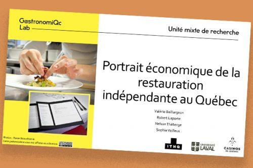 Portrait économique de la restauration indépendante au Québec
