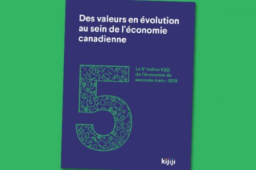 Indice Kijiji de l'économie de seconde main : Rapport 2019